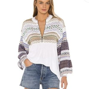 Free people cozy cottage knit thermal sweater